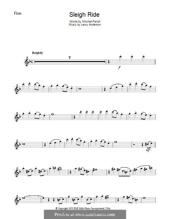 Sleigh Ride: Для флейты by Лерой Андерсон