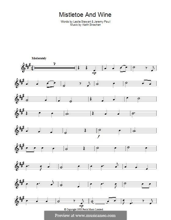 Mistletoe and Wine (Cliff Richard): Для альтового саксофона by Keith Strachan