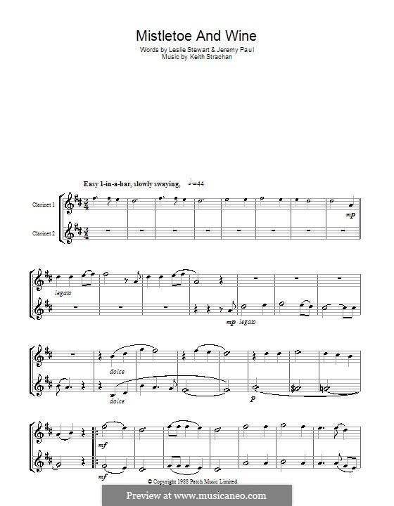 Mistletoe and Wine (Cliff Richard): Для двух кларнетов by Keith Strachan