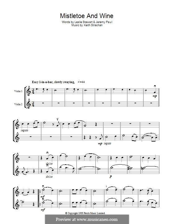 Mistletoe and Wine (Cliff Richard): Для двух скрипок by Keith Strachan