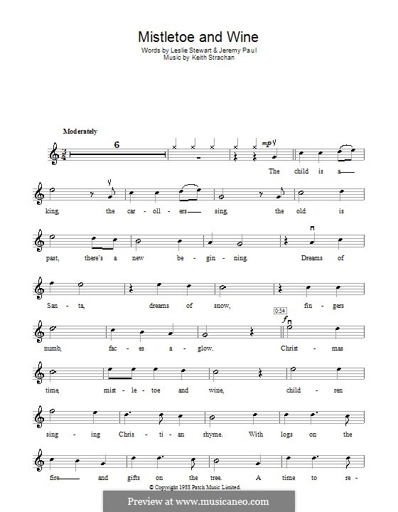 Mistletoe and Wine (Cliff Richard): Для скрипки by Keith Strachan