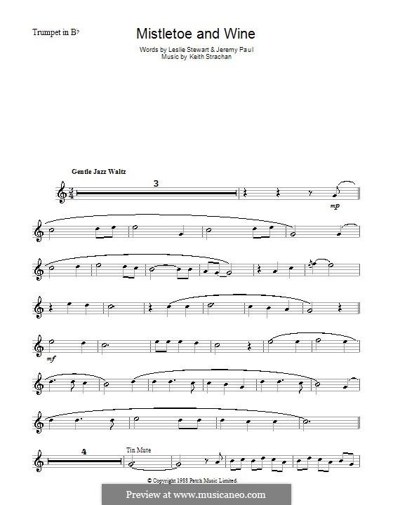 Mistletoe and Wine (Cliff Richard): Для трубы by Keith Strachan
