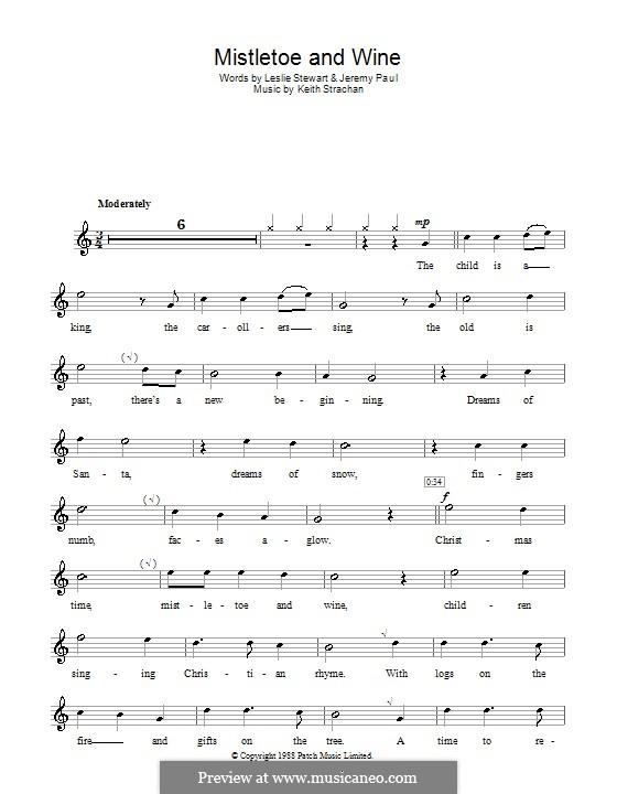 Mistletoe and Wine (Cliff Richard): Для блокфлейты by Keith Strachan