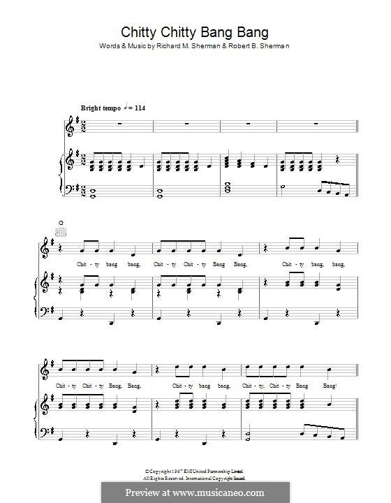 Chitty Chitty Bang Bang: Для голоса и фортепиано (или гитары) by Richard M. Sherman, Robert B. Sherman