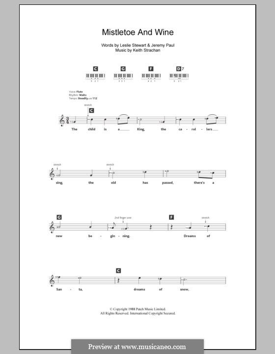 Mistletoe and Wine (Cliff Richard): Для клавишного инструмента by Keith Strachan