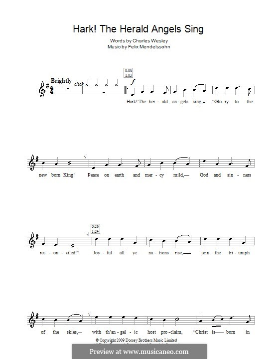 Hark! The Herald Angels Sing, for Solo Instrument: Для блокфлейты by Феликс Мендельсон-Бартольди