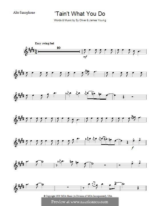 'Tain't What You Do (It's The Way That Cha Do It): Для альтового саксофона by James Young, Sy Oliver