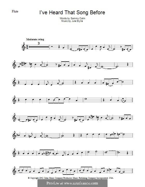 I've Heard That Song Before (Harry James): Для флейты by Jule Styne