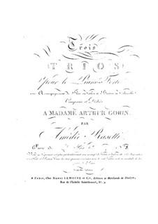 Трио для флейты (или скрипки), виолончели (или фагота) и фортепиано No.3, Op.13: Трио для флейты (или скрипки), виолончели (или фагота) и фортепиано No.3 by Амедей Разетти