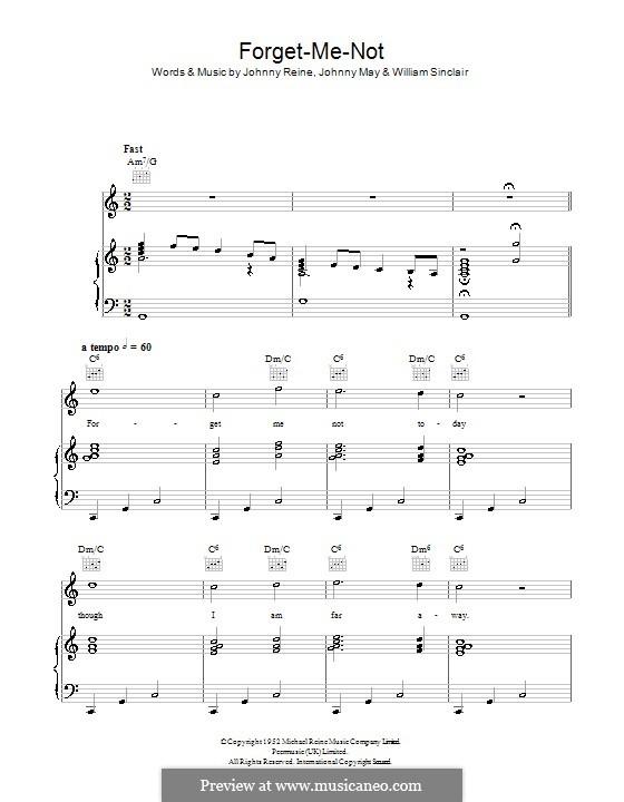 Forget-Me-Not (Vera Lynn): Для голоса и фортепиано (или гитары) by John S. May, Johnny Reine, William Sinclair