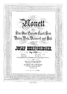 Нонет ми-бемоль мажор, Op.139: Партии by Йозеф Габриэль Райнбергер