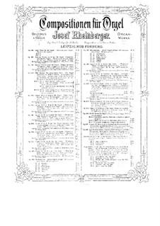 Соната для органа No.15, Op.168: Соната для органа No.15 by Йозеф Габриэль Райнбергер