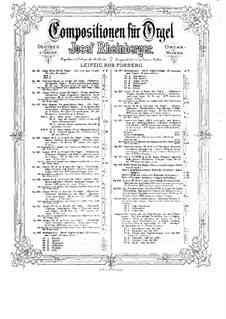Патсоральная соната для органа No.3, Op.88: Патсоральная соната для органа No.3 by Йозеф Габриэль Райнбергер