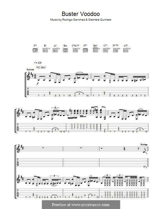 Buster Voodoo: Для гитары с табулатурой by Gabriela Quintero, Rodrigo Sánchez