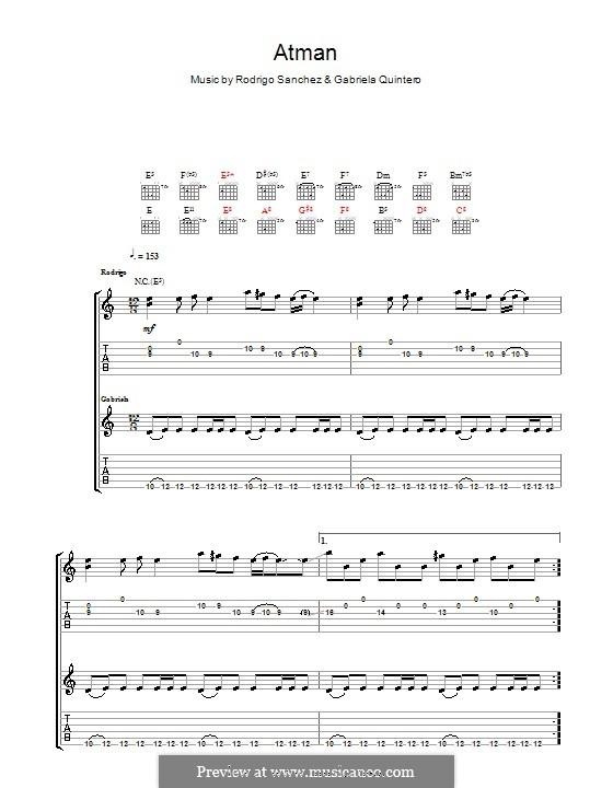 Atman: Для гитары с табулатурой by Gabriela Quintero, Rodrigo Sánchez