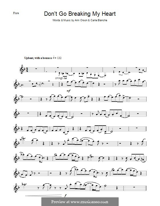 Don't Go Breaking My Heart (Elton John): Для флейты by Ann Orson, Carte Blanche