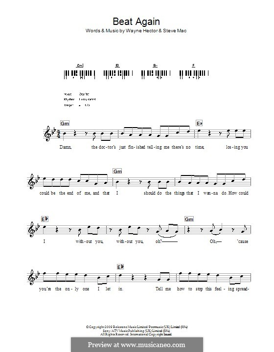 Beat Again (JLS): Для клавишного инструмента by Steve Mac, Wayne Anthony Hector
