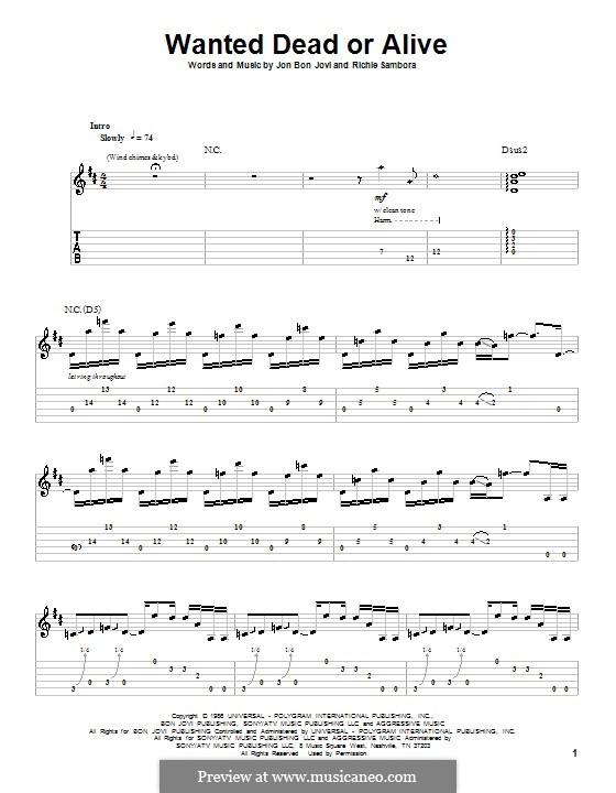 Wanted Dead or Alive (Bon Jovi): Для гитары by Jon Bon Jovi, Richie Sambora