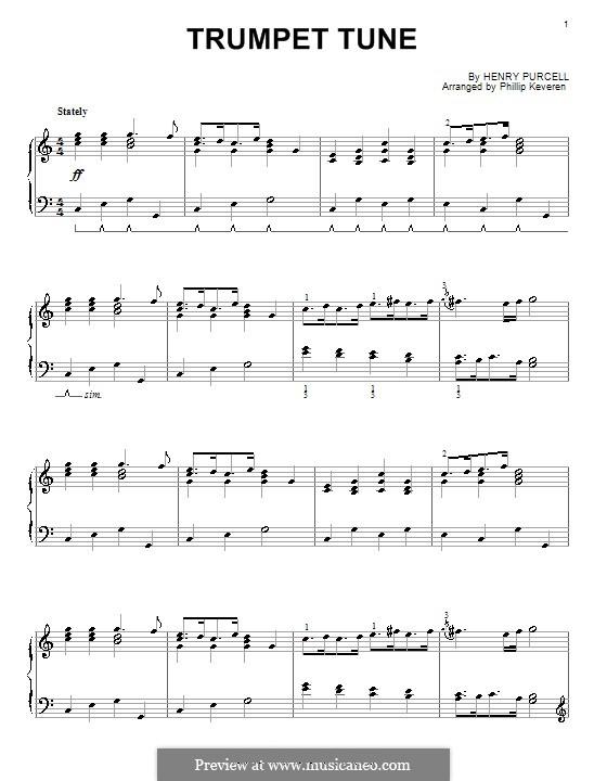 Trumpet tune and Air: Для фортепиано (соль мажор) by Генри Пёрсел