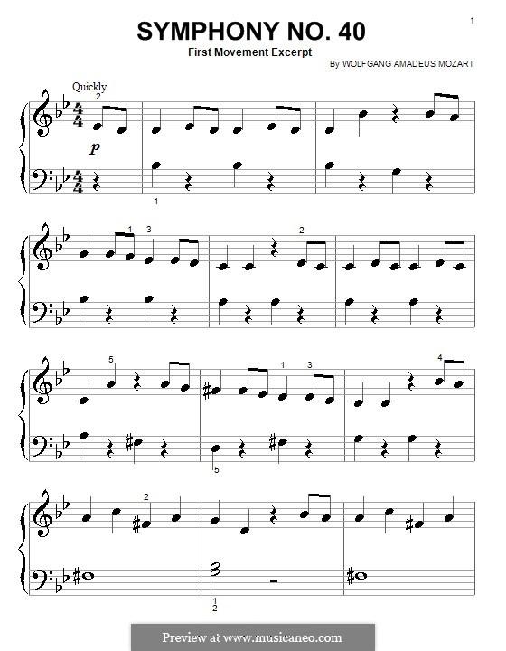 моцарт симфония 6 ноты для гитары