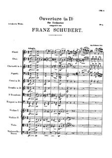 Увертюра для оркестра ре мажор, D.12: Увертюра для оркестра ре мажор by Франц Шуберт