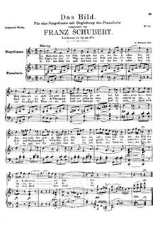 Das Bild (The Image), D.155 Op.165 No.3: F Major by Франц Шуберт