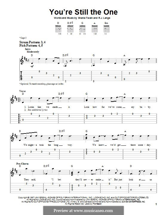 You're Still the One: Для гитары (очень легкая версия) by Robert John Lange, Shania Twain