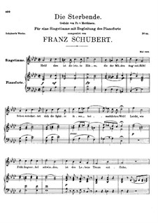 Die Sterbende (The Dying Girl), D.186: A flat Major by Франц Шуберт