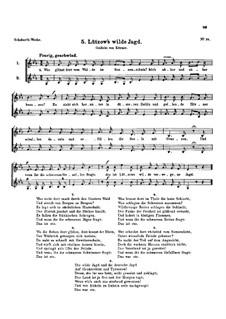 Lützow's wilde Jagd, D.205: Lützow's wilde Jagd by Франц Шуберт