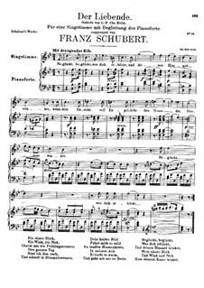 Der Liebende (The Lover), D.207: Для голоса и фортепиано (B Flat Major) by Франц Шуберт