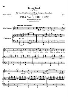 Klaglied (Lament), D.23 Op.131 No.3: Klaglied (Lament) by Франц Шуберт