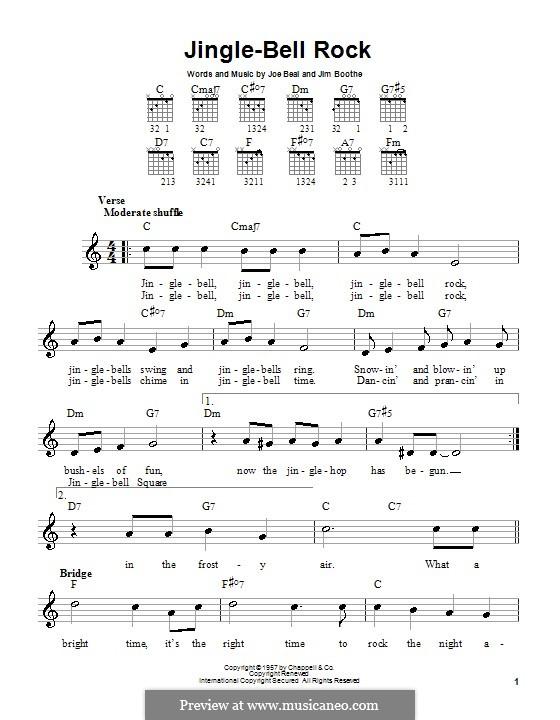 Jingle Bell Rock: Для гитары (очень легкая версия) by Jim Boothe, Joe Beal