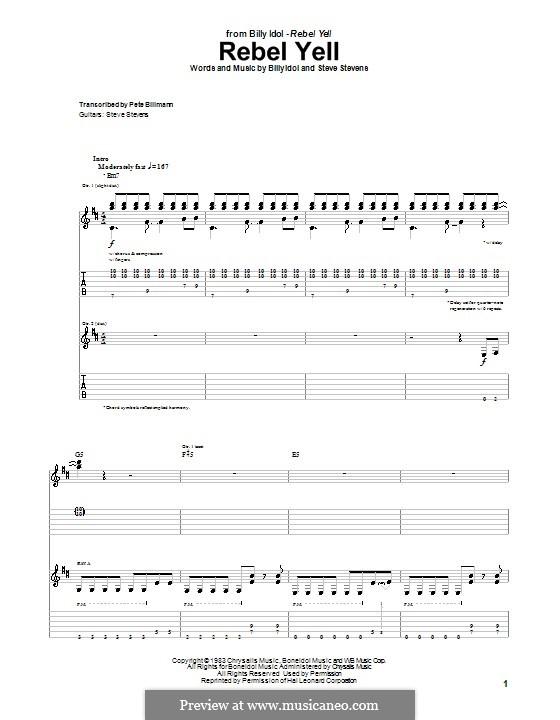 Rebel Yell: Для гитары с табулатурой by Steve Stevens