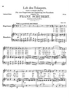 Lob des Tokayers (In Praise of Tokay), D.248: B flat Major by Франц Шуберт