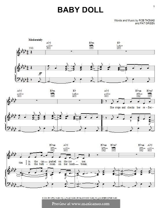 Baby Doll: Для голоса и фортепиано (или гитары) by Rob Thomas