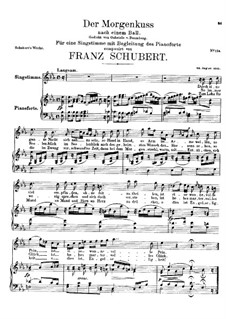 Der Morgenkuss nach einem Ball (The Morning Kiss), D.264: E flat Major by Франц Шуберт