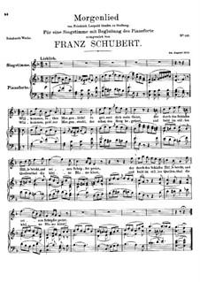 Утренняя песня, D.266: Утренняя песня by Франц Шуберт