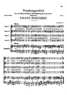Bergknappenlied, D.268: Bergknappenlied by Франц Шуберт