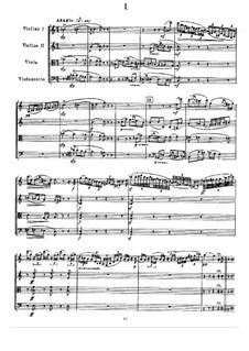 Струнный квартет No.2 фа мажор, TH 122 Op.22: Партитура by Петр Чайковский