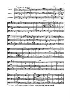 Аллегретто модерато для струнного трио, TH 152: Аллегретто модерато для струнного трио by Петр Чайковский