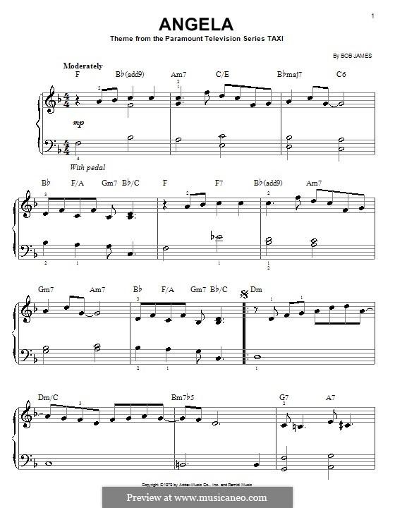 Angela (theme from Taxi): Для фортепиано (легкий уровень) by Bob James