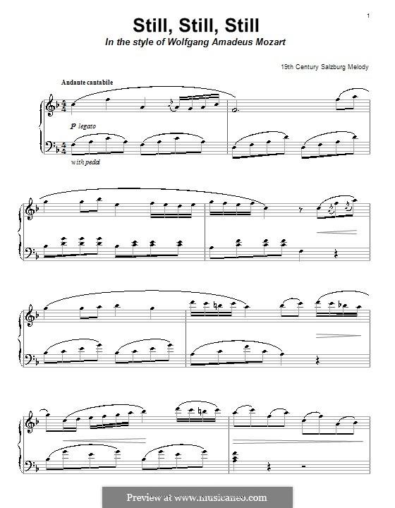 Still, Still, Still: Для фортепиано by folklore