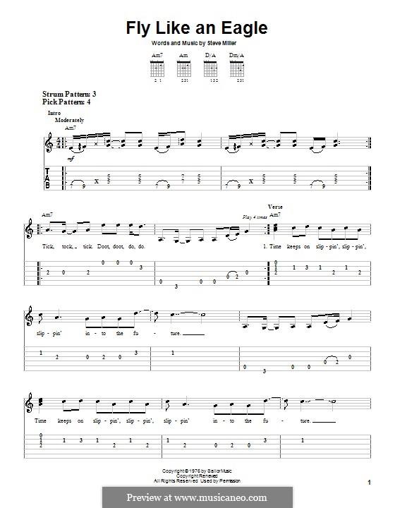 Fly Like an Eagle (Steve Miller Band): Для гитары by Steve Miller