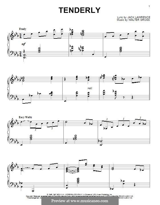 Tenderly: Для фортепиано by Walter Gross