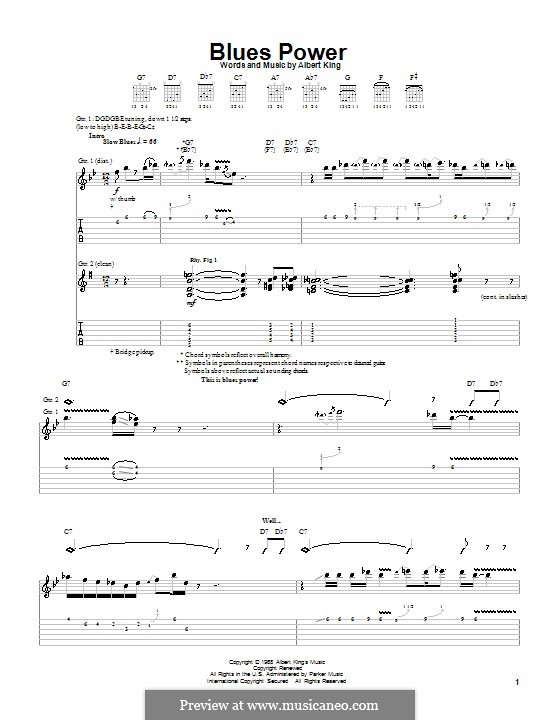 Blues Power: Для гитары с табулатурой by Albert King