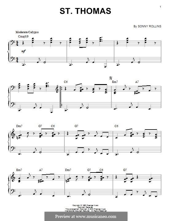 Vocal-instrumental version: Для фортепиано by Sonny Rollins