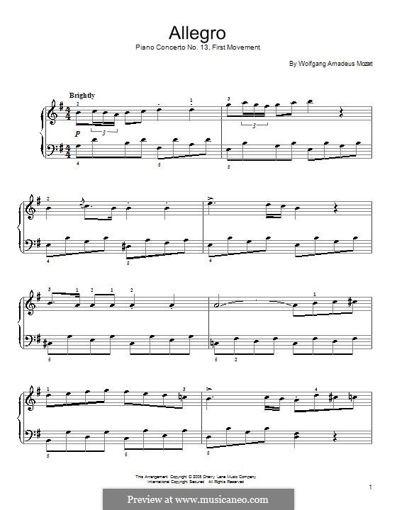 Аллегро соль мажор: Аллегро соль мажор by Вольфганг Амадей Моцарт