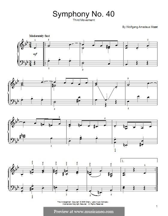 Часть III: Переложение для фортепиано by Вольфганг Амадей Моцарт