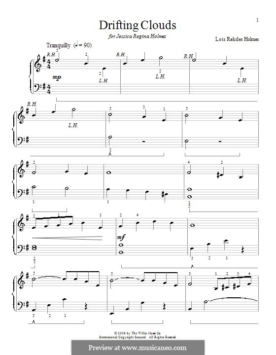 Drifting Clouds: Для фортепиано by Lois Rehder Holmes