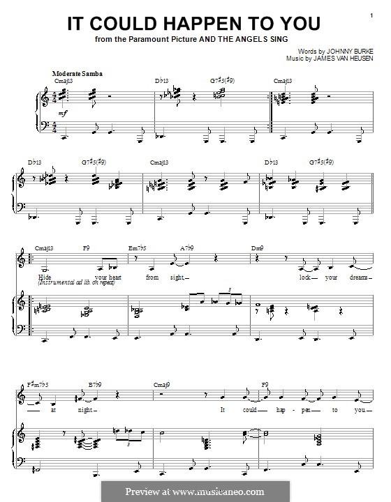 It Could Happen to You: Для голоса и фортепиано (или гитары) by Jimmy Van Heusen